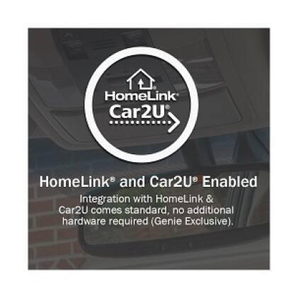 Genie SIlentMax Connect - HomeLink is built-in