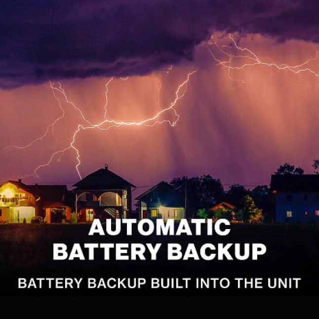 Genie MachForce Connect Screw Drive Garage Door Opener Battery Backup