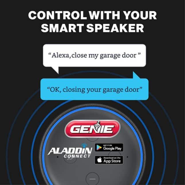 Genie MachForce Connect Screw Drive Garage Door Opener had Aladdin Conenct and Alexa built in