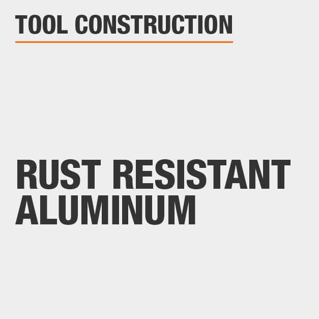 Tool Construction Rust resistant Aluminum