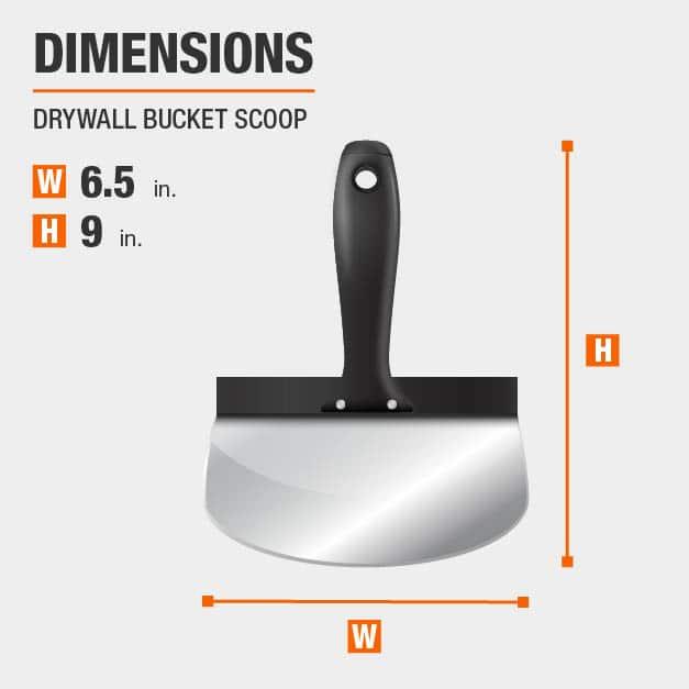 Drywall Bucket Scoop Drywall Tool Dimensions