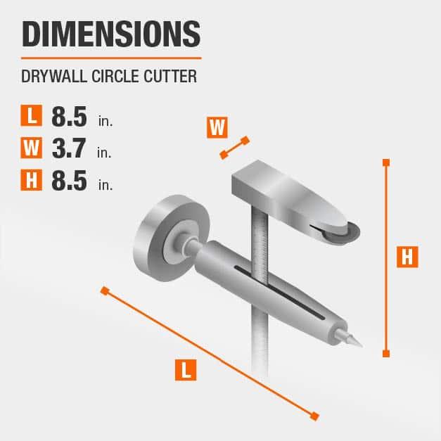 Drywall Circle Cutter Drywall Tool Dimensions