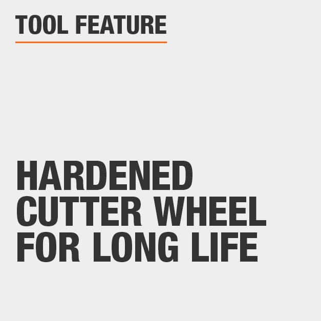 Tool Feature Hardened Cutter Wheel for long life