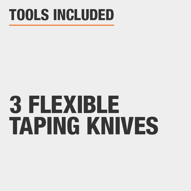 Tools Included 3 Flexible Taping Knives