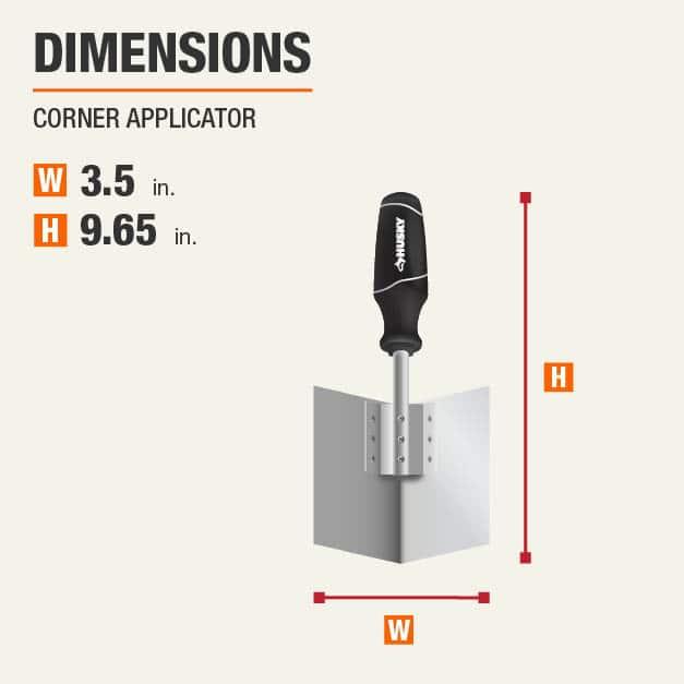 Corner Applicator Drywall Tool Dimensions