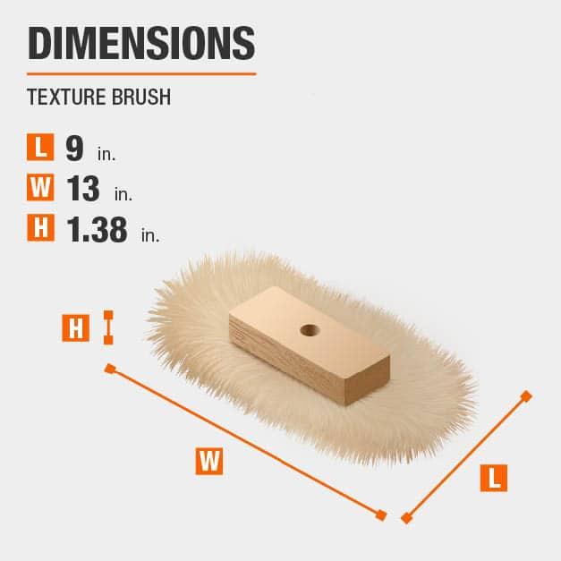 Texture Brush Drywall Tool Dimensions