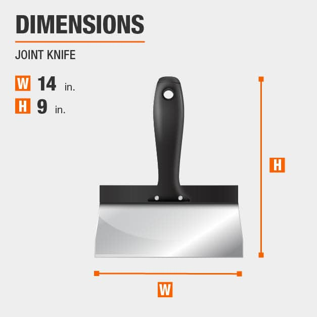 Joint Knife Drywall Tool Dimensions