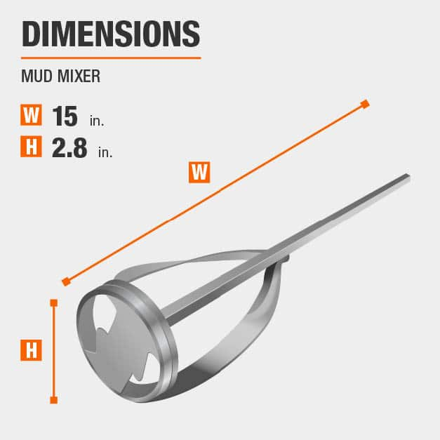 Mud Mixer Drywall Tool Dimensions