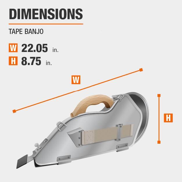 Tape Banjo Drywall Tool Dimensions