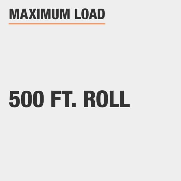 Maximum Load 500 ft. Roll