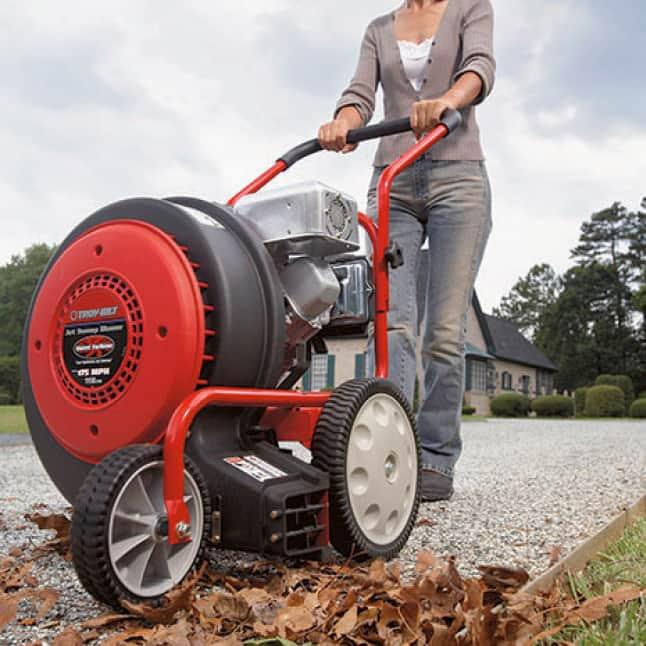 leaf blower, wheeled, clearing power, Troy-Bilt