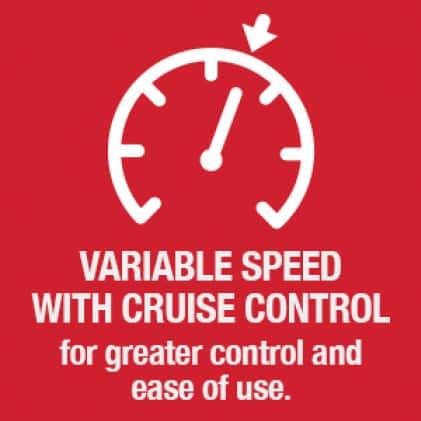 leaf blower, variable speed, speed settings, cruise control, handheld, Troy-Bilt