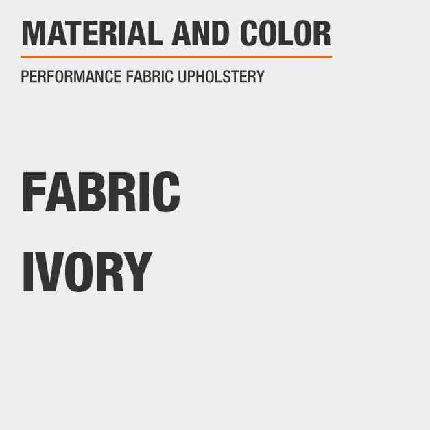 Fabric Queen Bed with Fabric material and Ivory color with Performance Fabric Upholstery