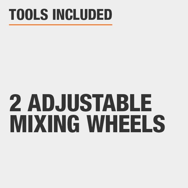 Tools Included 2 Adjustable Mixing Wheels