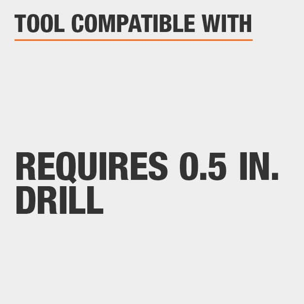 Tool Compatible with Requires 0.5 in. Drill