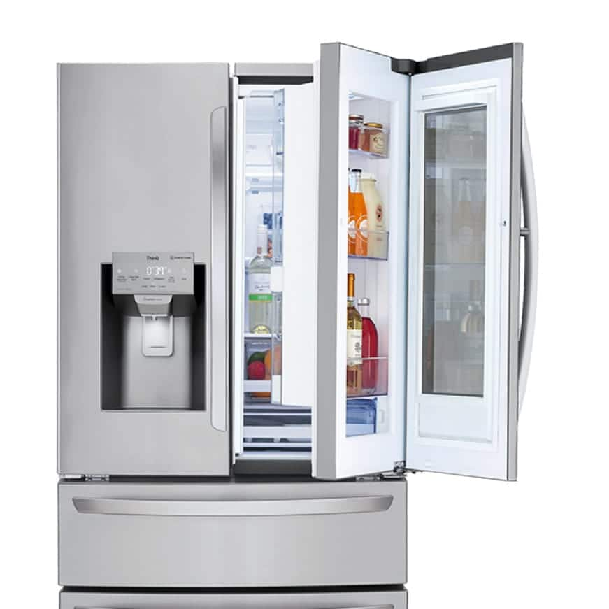 The LG Door-in-Door provides quick and easy access to foods and beverages.