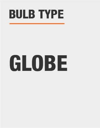The bulb type is globe