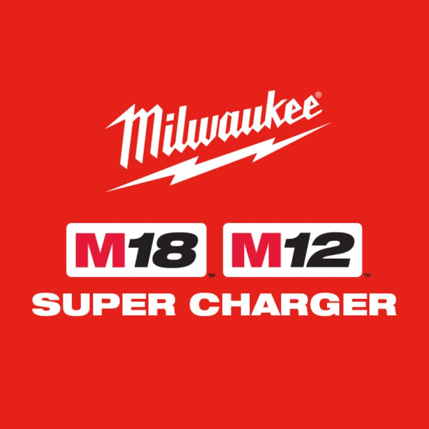 Charges batteries up to 4X faster than standard Milwaukee chargers.