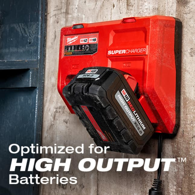 HIGH OUTPUT packs benefit most with significantly decreased charge durations.