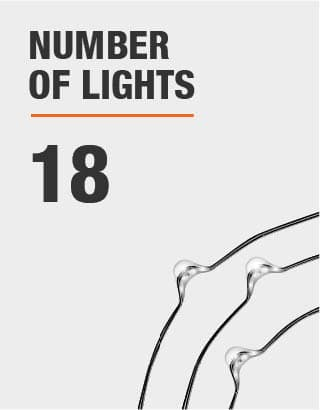 The number of lights is 18