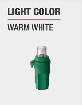 The light color is warm white