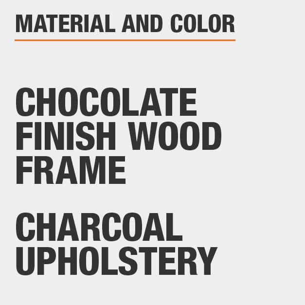 Charcoal Upholstery Chocolate Finish Wood Frame Upholstered Dining Chair Set