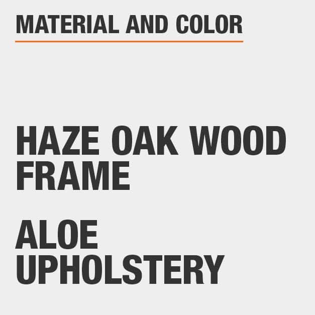 Aloe Upholstery Haze Oak Wood Frame Upholstered Dining Chair Set