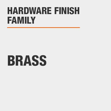 Hardware Finish Family is Brass
