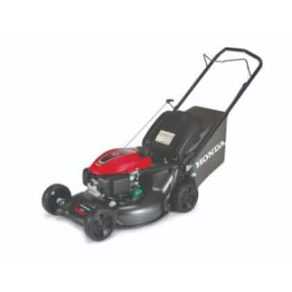 Side view of the mower.