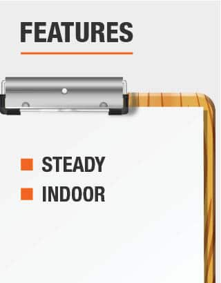 This light is steady and is recommended for use indoor
