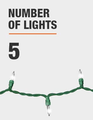 The number of lights is 5