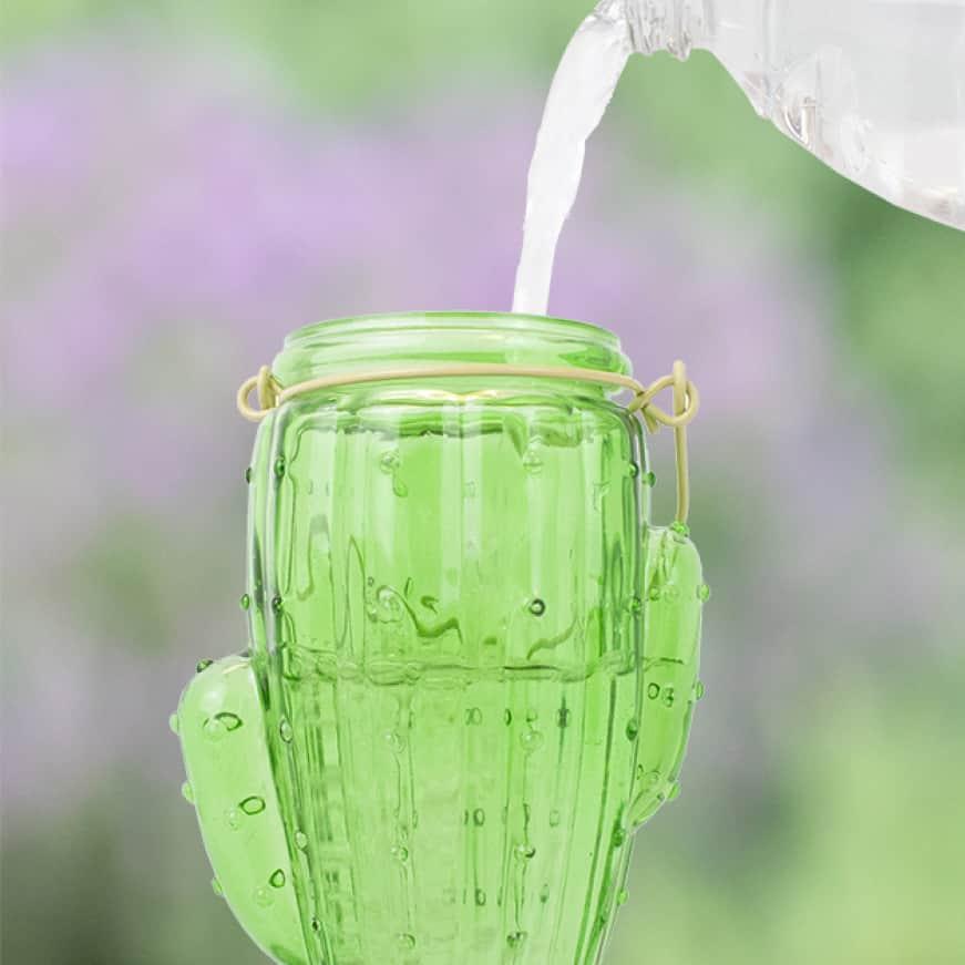 top fill technology, decorative glass top fill hummingbird feeders