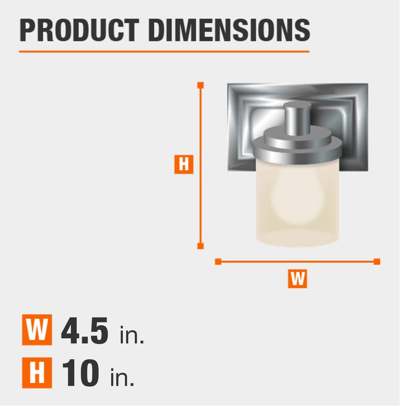 product dimensions are 10 inches by 4.5 inches