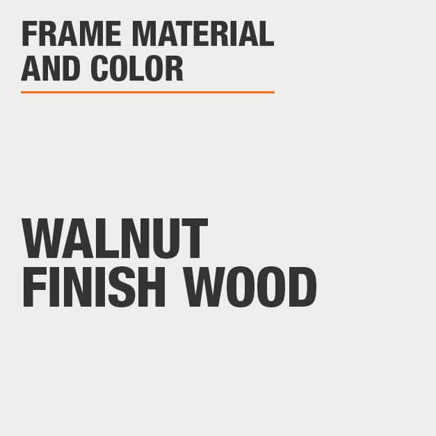 Upholstered Counter Stool with Walnut Finish Wood Frame
