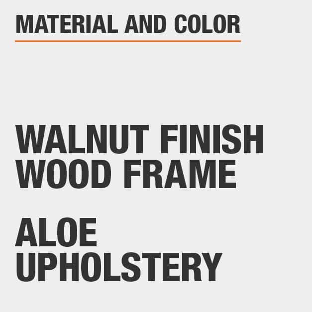 Aloe Upholstery Walnut Finish Wood Frame Upholstered Dining Chair Set
