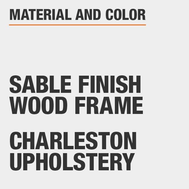 Charleston Upholstery Sable Finish Wood Frame Upholstered Dining Chair Set