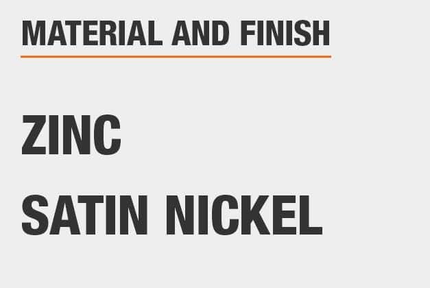 Material Zinc, Finish Satin Nickel