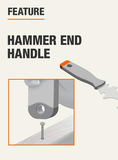 features an end cap for striking with a hammer, or using as a hammer