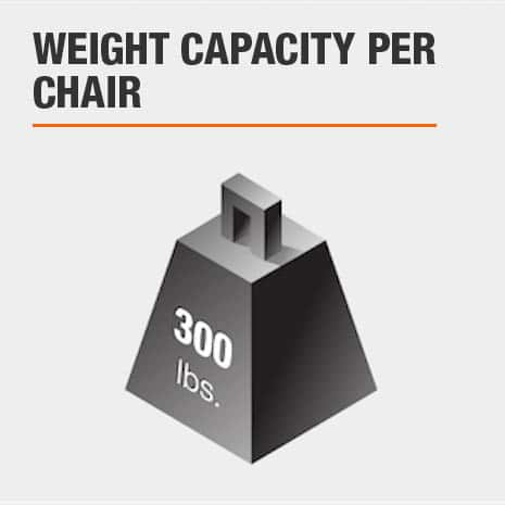 Dining Chair Set with 300 lbs weight limit per chair