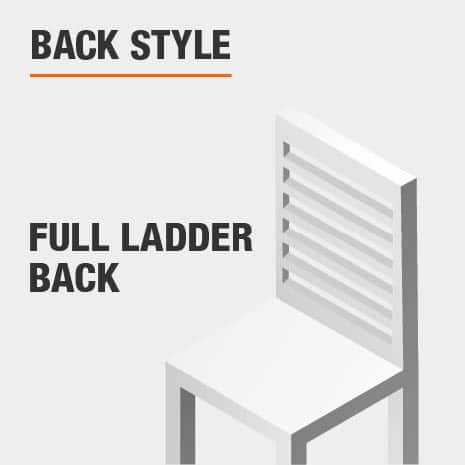 Dining Chair Set with Full Ladder Back