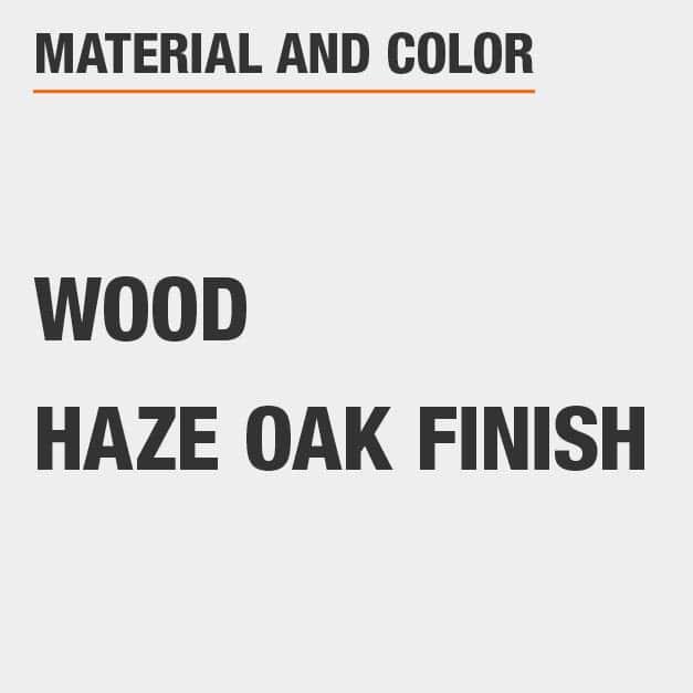 Haze Oak Finish Wood Dining Chair Set