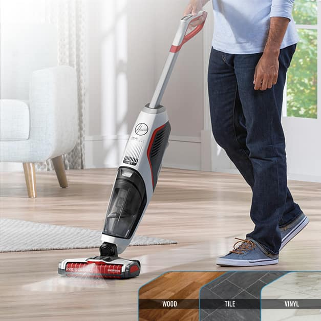 ONEPWR FloorMate JET cleaning on wood, tile and vinyl