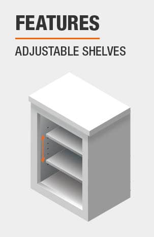 This Kitchen Pantry includes Adjustable Shelves