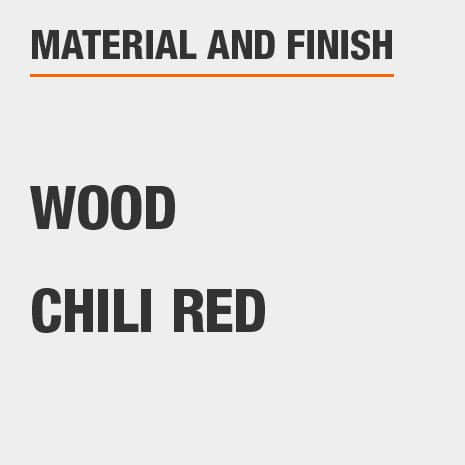 Kitchen Pantry is made of Wood with a Chili Red finish