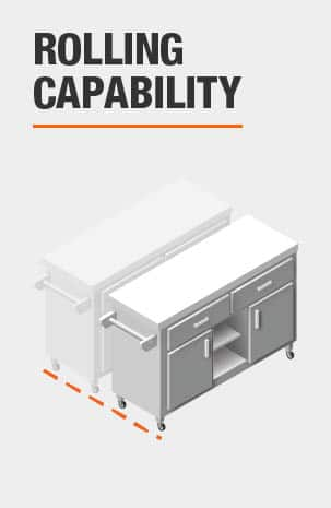 This Kitchen Cart has the ability to roll