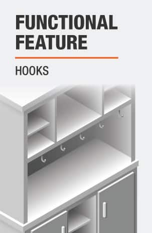 This Buffet Table includes Hooks