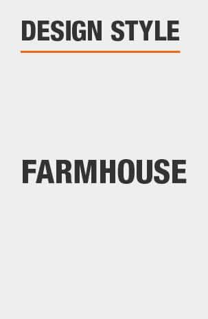 This Buffet Table has a Farmhouse design style