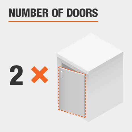 This product includes two doors