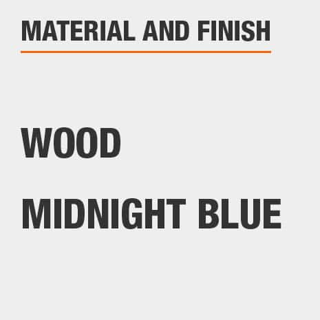 Kitchen Pantry is made of Wood with a Midnight Blue finish