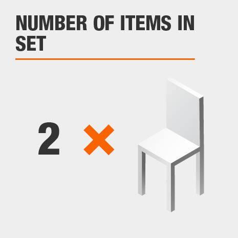 2 piece dining chair set